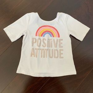 Old Navy rainbow scoop back tee, size 18-24 mo